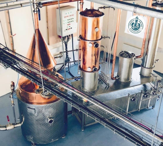 In the Scotland Highlands this copper still called Stroma is doing her magic now.