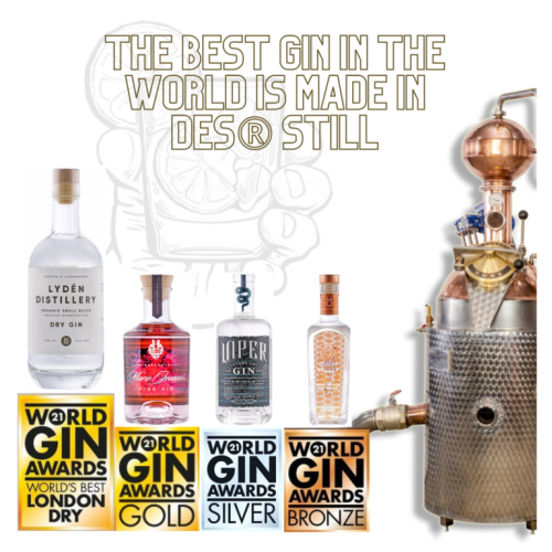 The winners of the world Gin Awards competition